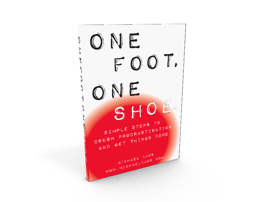 One Foot, One Shoe Crush Procrastination Now Available!